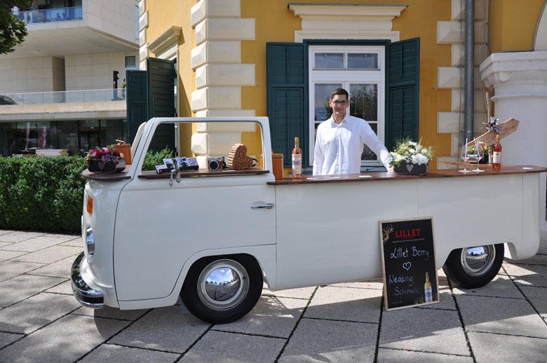 Elfi Bulli-Mietbar T2-Theke und Bar