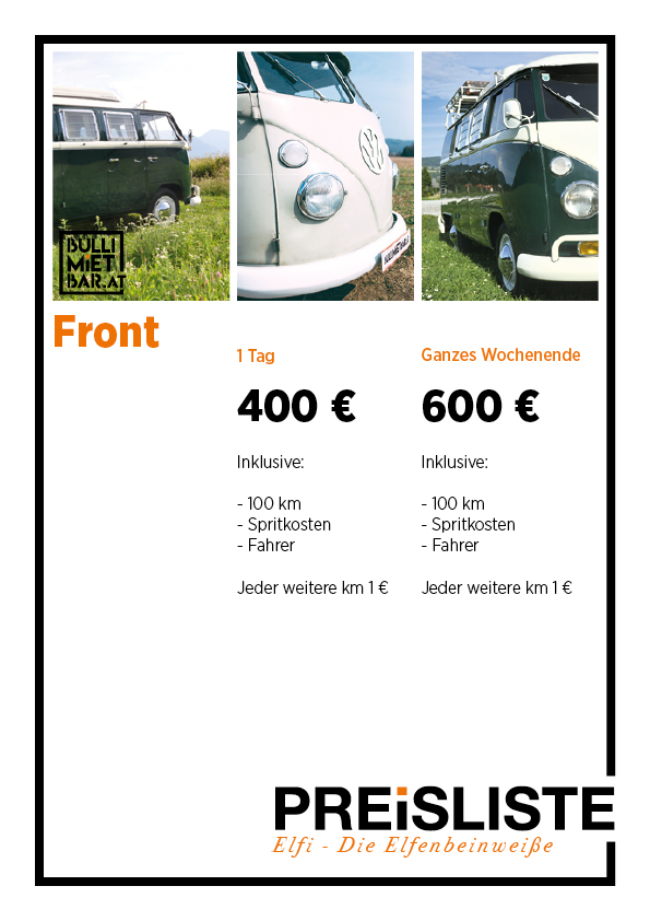 Preisliste Elfi Bullibar Front